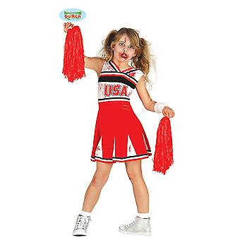 Guirca zombie cheerleader costume for girls Carnival Halloween child costume