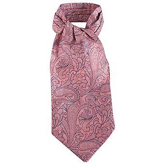 Knightsbridge dassen Paisley zijde Cravat - roze