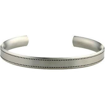 Ti2 titanio 8mm brazalete ancho cosido patrón - plata