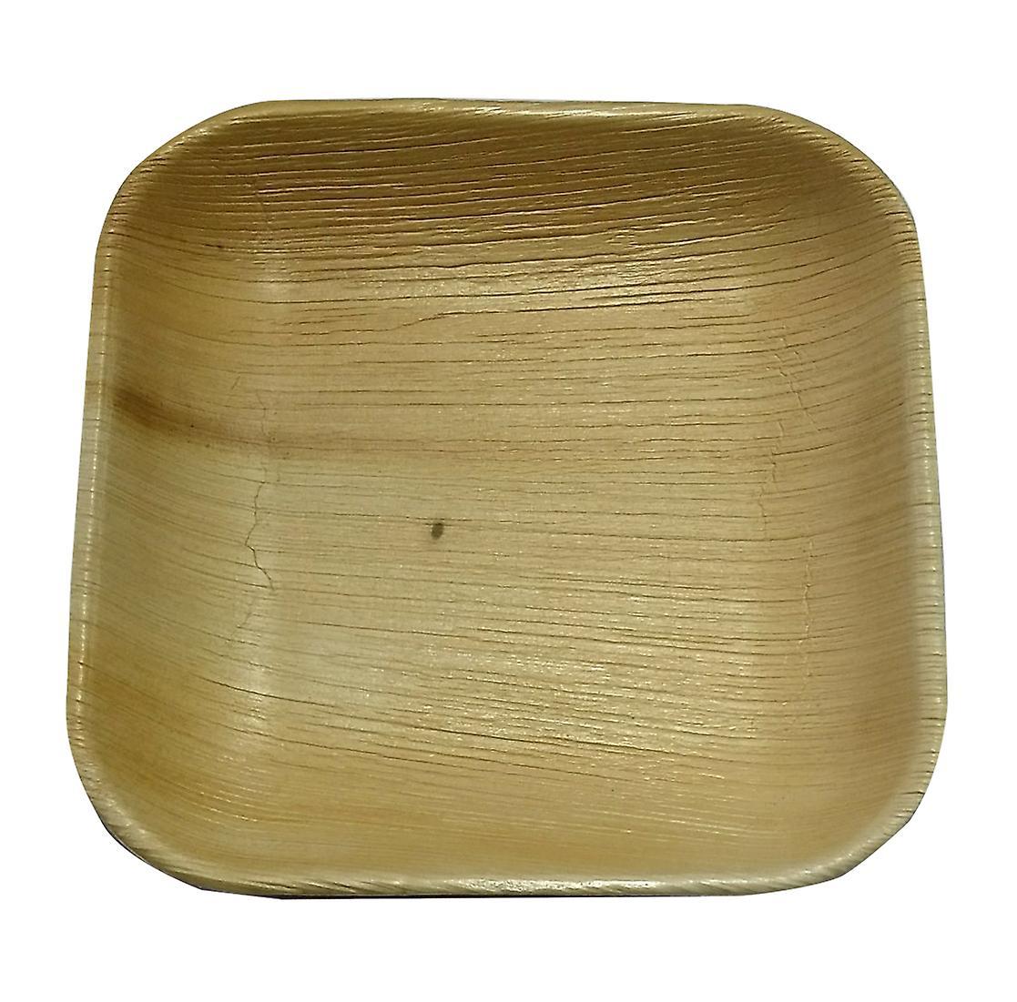 Ympäristöystävällinen kertakäyttöinen puolue levyt - 17cm neliö (25 levyt)