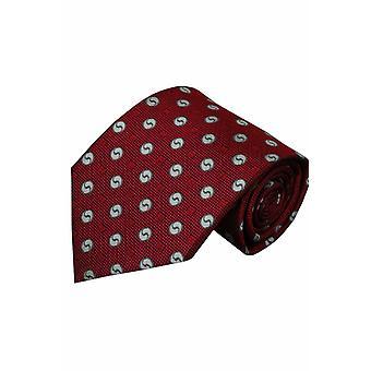 Rode zijden stropdas Albenga 01