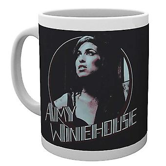Official Amy Winehouse Mug Retro Badge Portrait Logo Back to Black new White