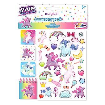 Pixie pony Unicorn gezwollen stickers bladwijzers blok stickers