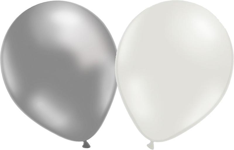 Ballonger 12-pack  Silver/vit