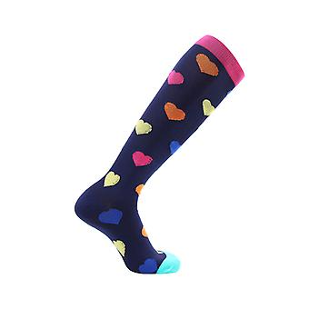 Knee-high Unisex support socks-hearts