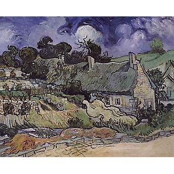Thatched Cottages at Cordeville, Vincent Van Gogh