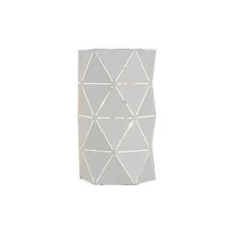 Lucide Majstora moderne Half-ronde metalen witte muur licht