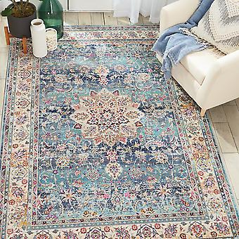 Vka01 de alfombras de Kashan Vintage por Nourison en azul