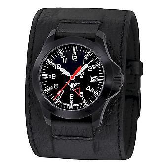 KHS zegarki męskie zegarek czarny plutonu GMT LDR KHS. BPGLDR. LK