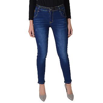 Lovemystyle Blue Denim Low Waist Skinny Jeans
