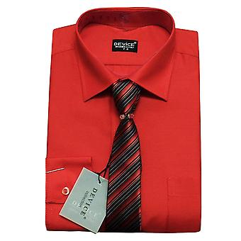 Boys and Men Red Shirt and Tie Set