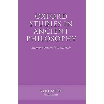 OXF STUDIES ANCIENT PHILOSOPHY VOL 40 P by Allen & Emilsson & Mann & Morison