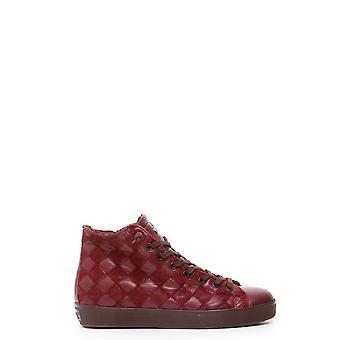 Cuir Crown Ezbc1111006 Women-apos;s Burgundy Fabric Hi Top Sneakers