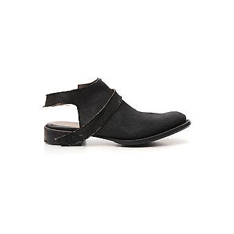 Yohji Yamamoto Hhe43360 Men's Black Leather Sandals