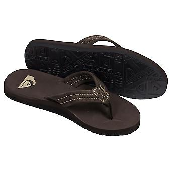 Quiksilver Mens Carver Suede Beach Casual Sandals - Dark Brown/Black