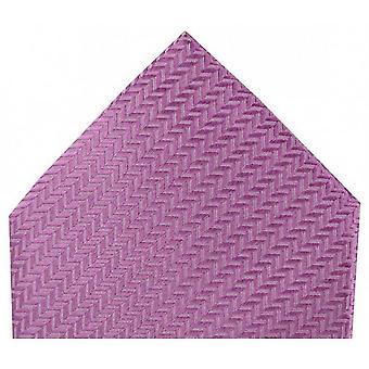 David Van Hagen Herringbone Silk Handkerchief - Rose Pink