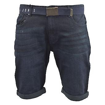 Mens denim short smith and jones belted redfield