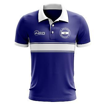 El Salvador konceptet Stripe Polo Shirt (blå)