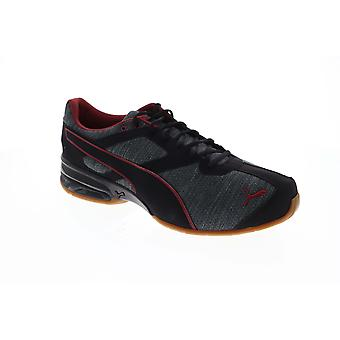 Puma Tazon 6 Heather Rip  Mens Black Low Top Athletic Gym Running Shoes