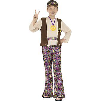 Hippie boy flower child 60s years child costume