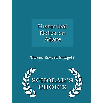 Notas históricas sobre Adare-edición de la elección del erudito