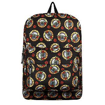 RockSax Guns N Roses Allover Logo Backpack