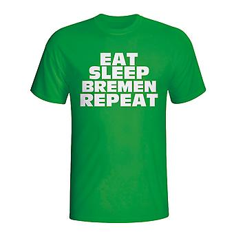 Eat Sleep Werder Bremen Repeat T-shirt (green)