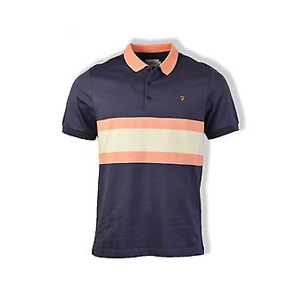 Farah Rushton Short-Sleeved Polo Shirt (Navy)