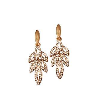 Eeuwige collectie Belle De Jour Rose Gold Diamante Drop doorboord oorbellen