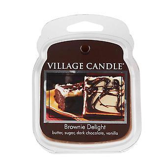 Village Candle Wax smelte pakker til brug med melt tart & oliebrændere 6 klumper Brownie Delight