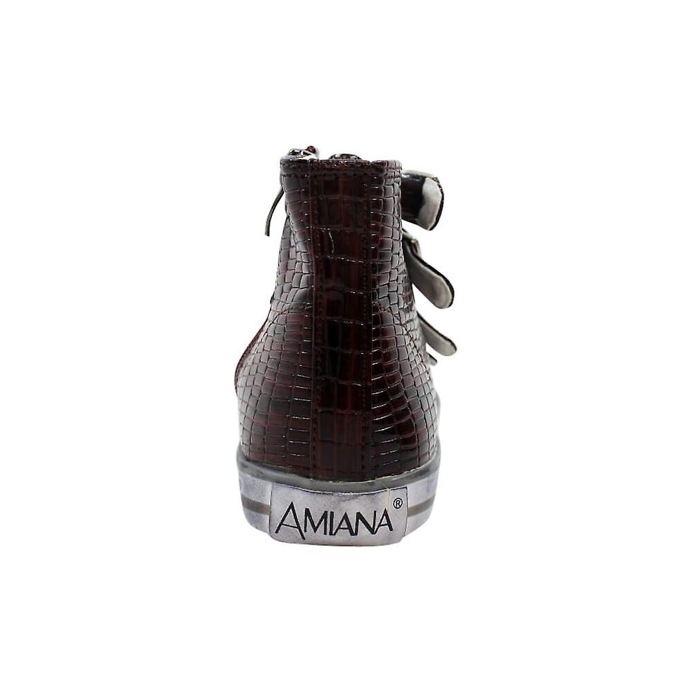 Amiana 4 Buckle Salut Bourgogne Tile Pat 15/A5172 Bur Femmes - Remise particulière