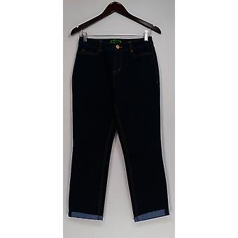 C. Wonder Jeans Functional Cuffed Ankle Length w/ Pockets Blue A293513