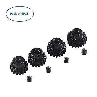 4 Pièces M1 5mm 16T 17T 18T 19T Pinion Motor Gear pour 1/8 RC Buggy Monster Truck Brushed Brushless Motor