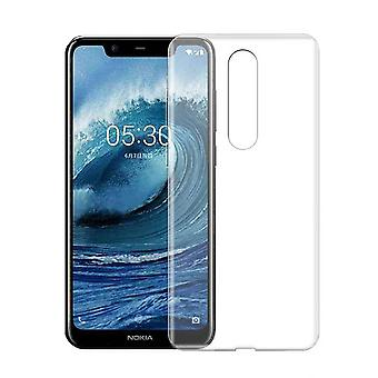 Nokia 5.1 Plus Silicone Case Transparent - CoolSkin3T
