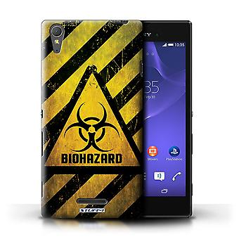 STUFF4 Case/Cover for Sony Xperia T3/Biohazard/Hazard Warning Signs