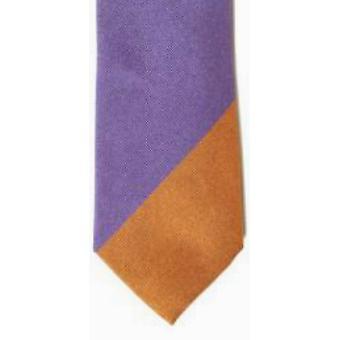 Gene Meyer Squash Tie - Purple/Orange -