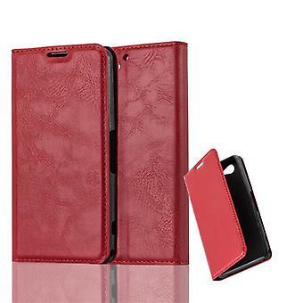 Funda Cadorabo para Sony Xperia Z2 COMPACT Funda de funda - Funda de teléfono con cierre magnético, función de soporte y compartimiento de la caja de la tarjeta - caso de la caja de la caja del caso del libro plegable estilo plegable del libro de la caja