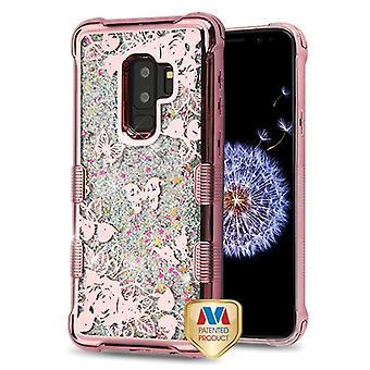 MYBAT TUFF Quicksand Glitter Lite Hybrid Case (Rose Gold) for Galaxy S9 Plus