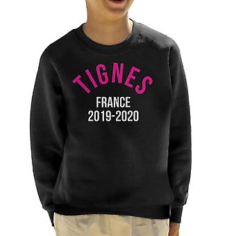 Tignes France 2019 2020 Skiing Kid's Sweatshirt