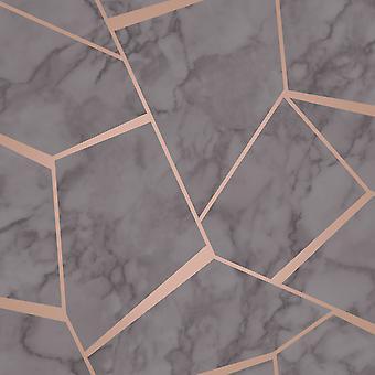 Fractal Geometric Marble Wallpaper Fine Decor