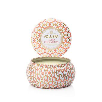 Voluspa 2-Wick Maison Metallo Candle Saijo Persimmon 312g Voluspa 2-Wick Maison Metallo Candle Saijo Persimmon 312g