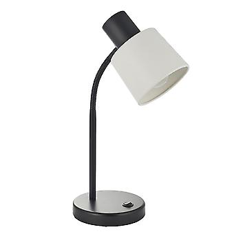 Endon Ben 1 Light Table Light Matt Czarny i matowy biały 78029