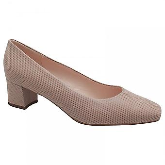 Peter Kaiser Ghana  Beige Block Low Heel Court Shoes
