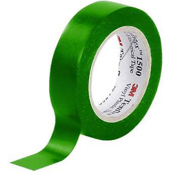 3M 7000062281 Electrical tape Temflex 1500 Green (L x W) 10 m x 15 mm 1 Rolls