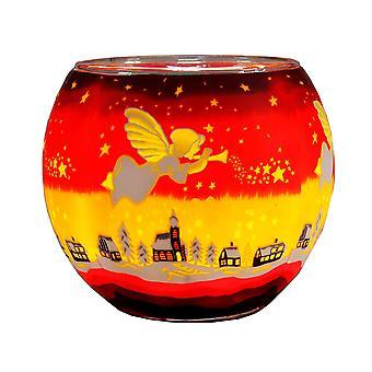 Kerzenfarm 11cm Glowing Glass, Angel