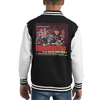 Hammer Horror Films Frankenstein Monster From Hell Red Kid's Varsity Jacket