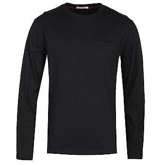 Nudie Jeans Co Rudi Long Sleeve Black Pocket T-Shirt