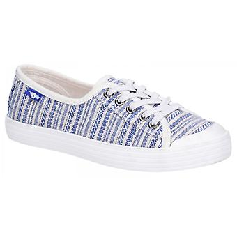 Rocket Dog Chowchow Cascade Ladies Cotton Casual Trainers Blue