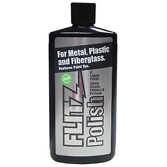 Flitz Liquid Metal Polish for Metal, Plastic & Fiberglass 225 mL Bottle #LQ04587