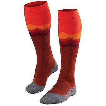 Falke skiløb 2 Crest knæ høje sokker-Samba orange